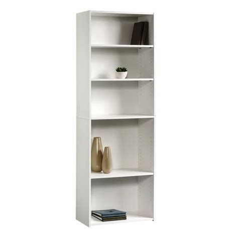 menards wall shelves sauder beginnings soft white 5 shelf bookcase at menards 174