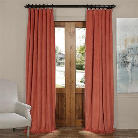 Orange Velvet Curtains Exclusive Fabrics Furnishings Signature Fresh Violet Blackout Velvet Curtain 50 In W X 108