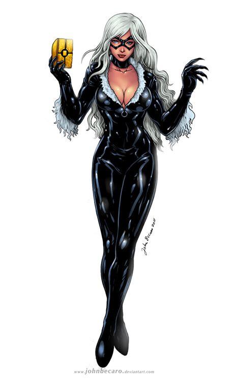 black cat marvel commission black cat by johnbecaro on deviantart