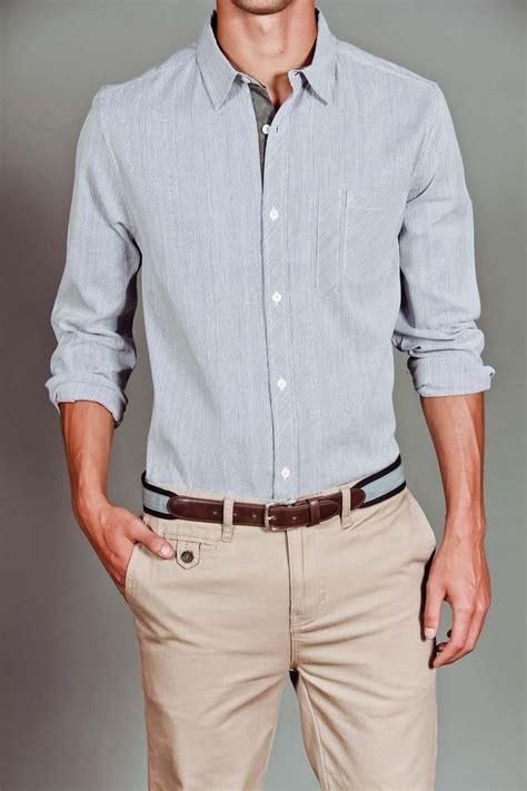 light blue chinos mens light blue shirt cotton khaki pants men s clothing