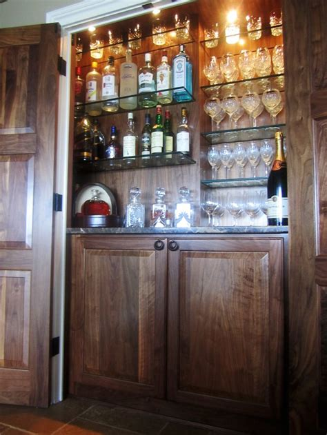 The Closet Bar by Walnut Bar This Particular Bar Was Placed In
