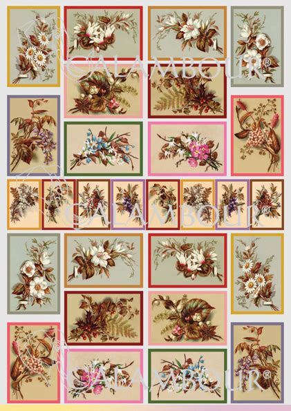 Decoupage Printer Paper - cal 35 calambour paper for classic decoupage pattern