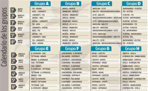 Calendario De Futbol 2016 2017 Calendario Completo De La Chions League 2016 2017