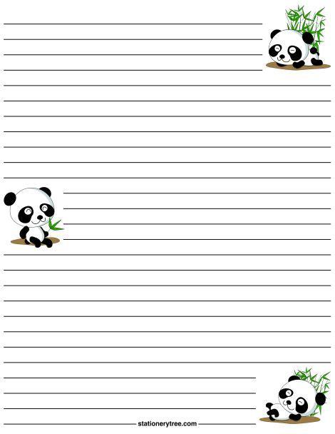 Printable Panda Stationery | printable panda stationery and writing paper multiple