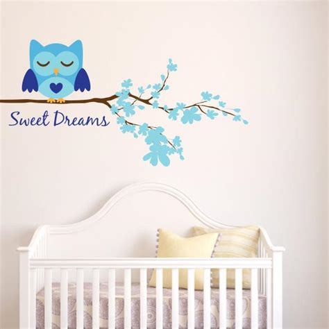 Owl Nursery Wall Decals Boy Sweet Dreams Owl Wall Decal Wall Decal World