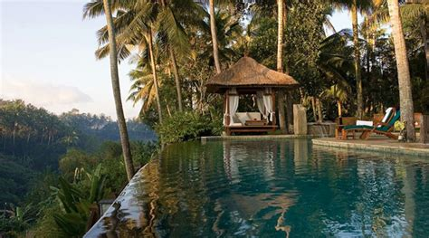 Hanging Infinity Pools In Bali five great jungle fringed pools at resorts in ubud bali
