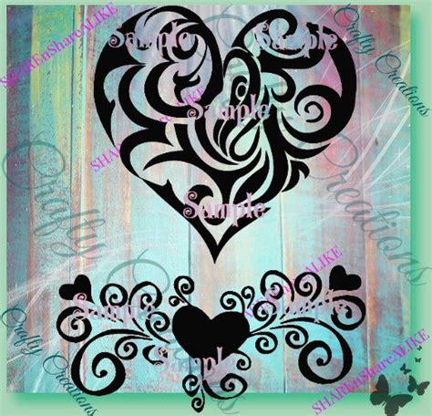 pattern sign vinyl heart svg love border flourish pattern cricut vinyl card die