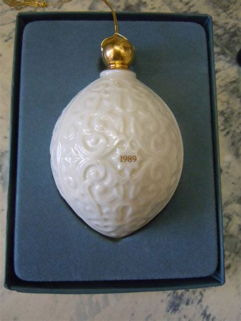 lenox white porcelain christmas ornament 1989 lenox