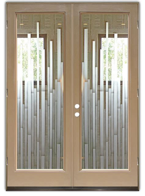 Glass Front Entry Doors Frosted Glass Obscure Mosaics Glass For Front Door