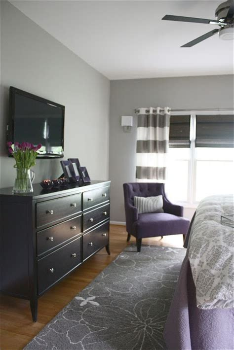 grey and purple master bedroom paint sherwin williams mindful gray interiors designed