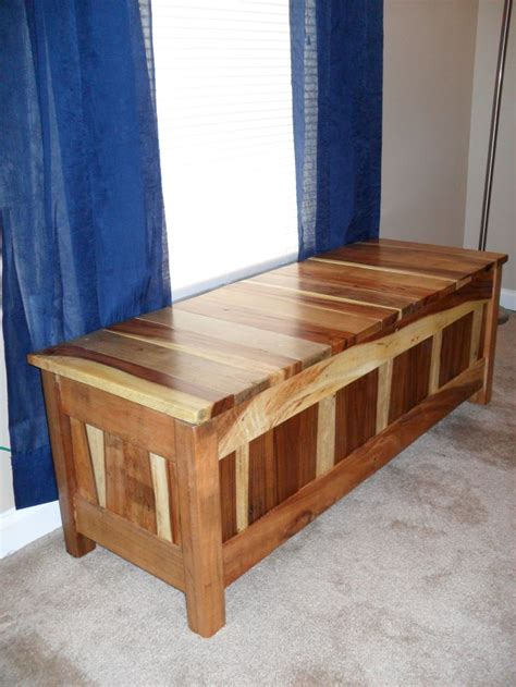 storage bench made from pallets pallet storage bench window seat home pinterest