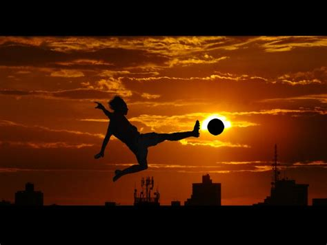 soccer in sun and sunset soccer game on