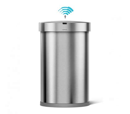 simplehuman bathroom bin simplehuman bins for kitchens bathrooms