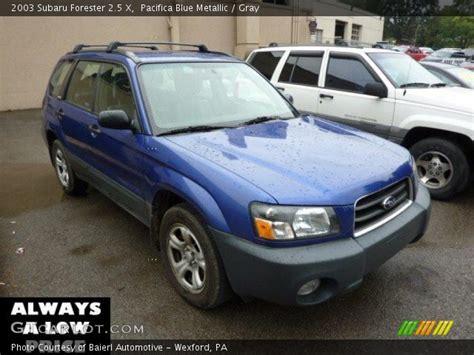 blue subaru forester 2003 pacifica blue metallic 2003 subaru forester 2 5 x gray