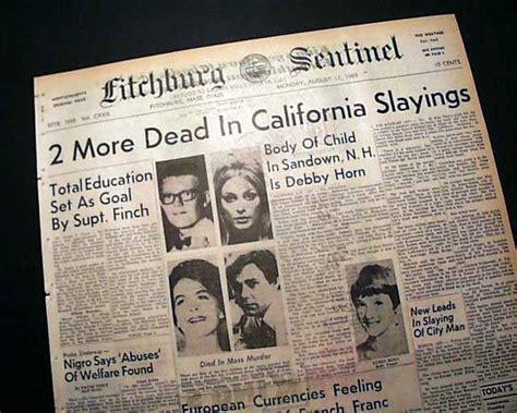 Charles Manson Murders Sharon Tate A