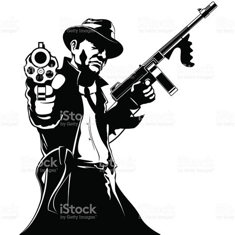gangster stock vector more images of black and white