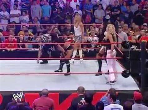 trish stratus titantron 2006 trish stratus and ashley vs victoria candice michelle and