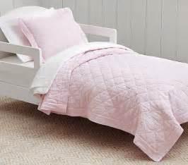 Toddler Bedding Set Pink Belgian Flax Linen Toddler Bedding Pink Pottery Barn