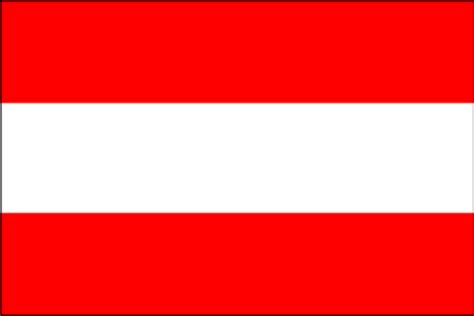 Three equal horizontal bands of red top white and red