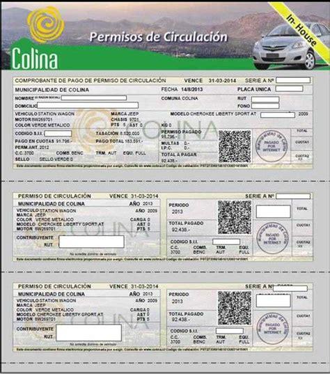 precio de permiso de circulacion chao vacaciones valores del permiso de circulaci 243 n 2017