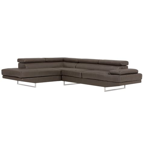 dark grey microfiber sectional city furniture tatiana dark gray microfiber left chaise