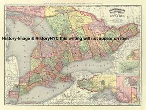 detailed map of ontario canada welcome to historynyc historical maps poster books and