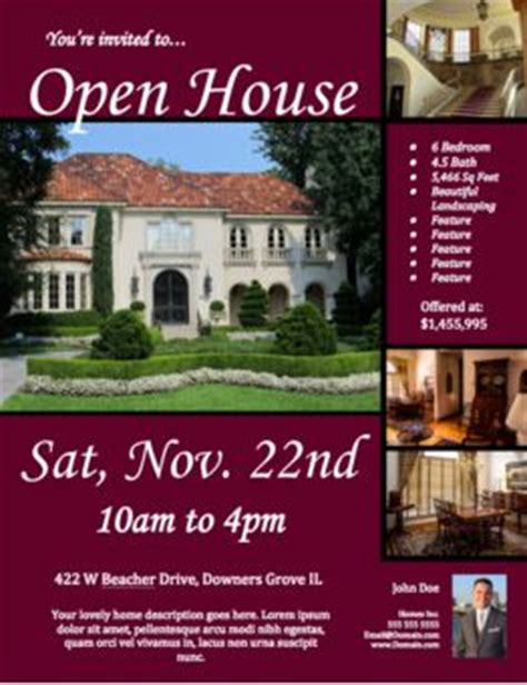 34 Spectacular Open House Flyers Psd Word Templates Demplates Open House Flyer Template