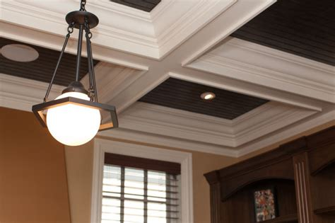 Coffered Ceiling Lighting Globe Pendant Light Fixture On Coffered Ceiling