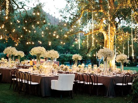 outdoor wedding reception wedding reception lighting basics