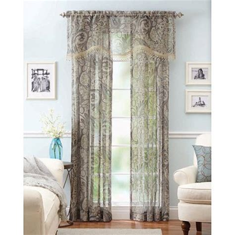 paisley sheer curtains better homes and gardens paisley faux linen curtain panels