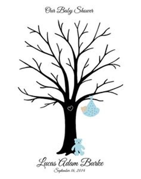 Baby Shower Thumbprint Tree Template by 1000 Images About S Baby Shower On