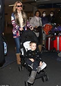 Light Pink Uggs January Jones And Her Son Xander Both Wear Uggs As They