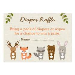 cute woodland forest animal diaper raffle tickets pack of