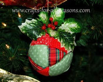 fabric covered styrofoam ball ornaments quilted ornament