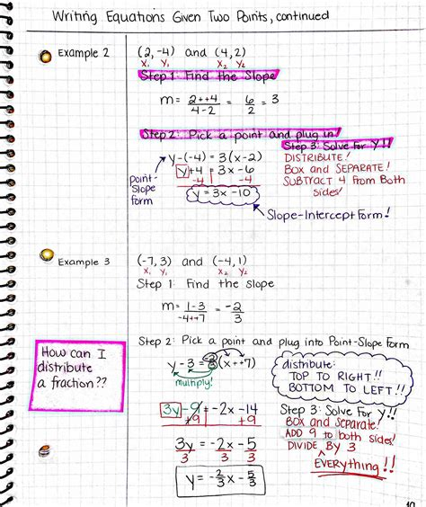 slope worksheet 2 finding slope from two points worksheet answers free