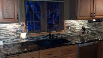 mosaic tile backsplash in kitchen