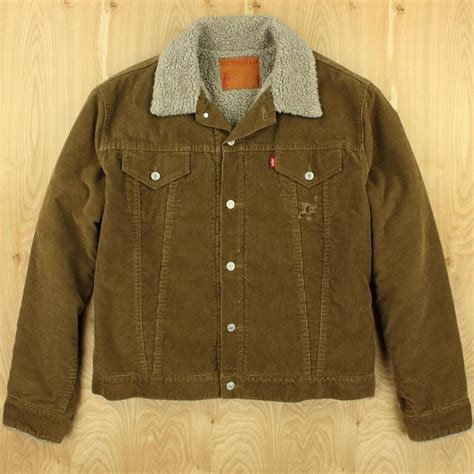 Fleece Lined Corduroy Jacket levi s sherpa fleece lined corduroy trucker jacket xl