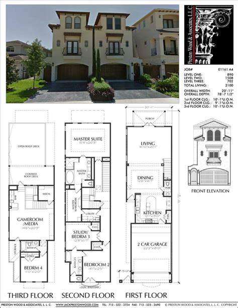 Ditch Door House Floor Plan - 25 best ideas about townhouse designs on