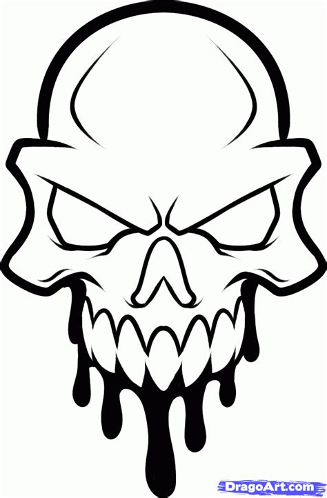 easy tattoo drawings how to draw a skull skull step by step