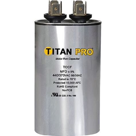 run capacitor what is it titan tocf3 3 mfd 440 370v oval run capacitor