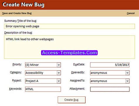 issue tracking access database template hone geocvc co