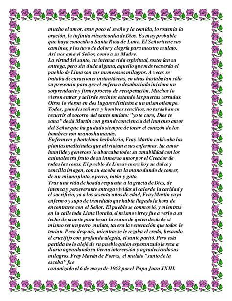 acrostico de san martin de porres biografia de fray martin de porres
