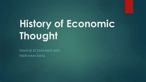 History Of Economic Thought ietm history of economic thought