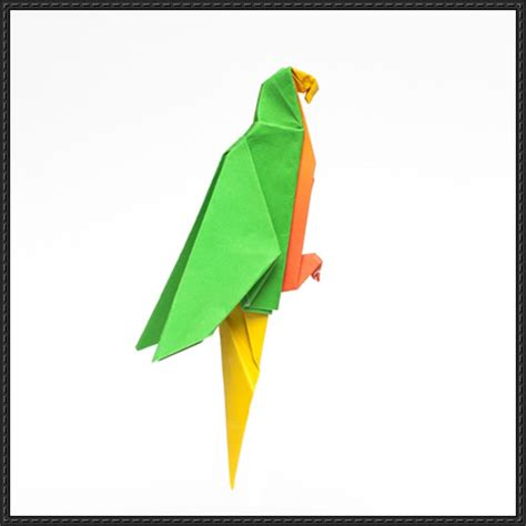Origami Macaw Parrot - papercraftsquare new paper craft how to fold an