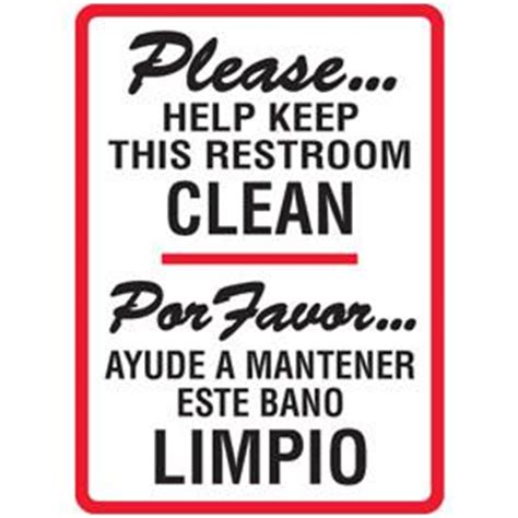 keep bathroom clean clean toilet please sign pictures tattoo