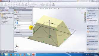 solidworks tutorial extrude solidworks extrude boss draft inward or outward tutorial