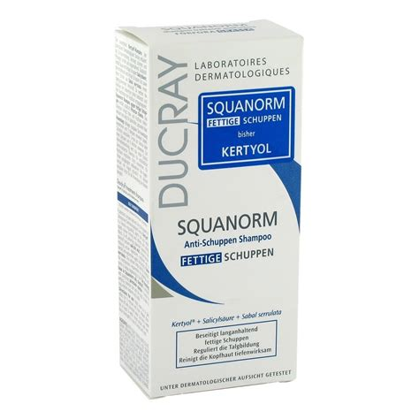fettige schuppen ducray squanorm fettige schuppen shoo 125 milliliter