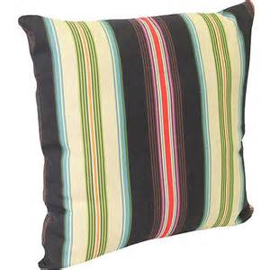walmart patio pillows 16 quot outdoor toss pillow gamali black tie stripe walmart