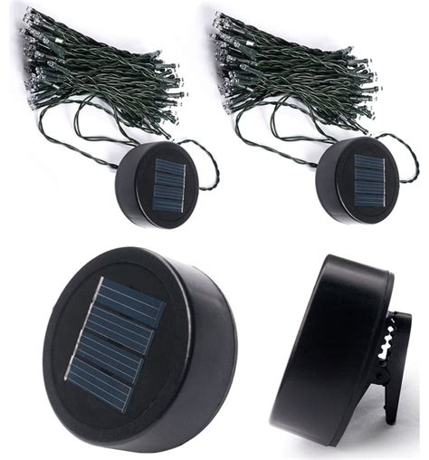 Clip On Solar Lights Touch Of Eco Liteup50 Solar Clip On String Lights 2