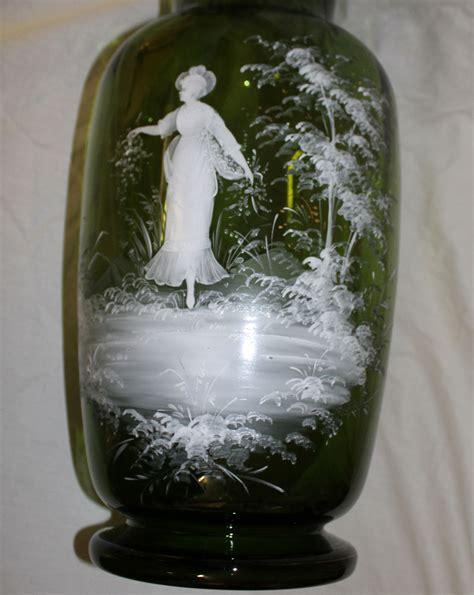 Floor L Glass Bowl by Bargain S Antiques 187 Archive Large Green Gregory Glass Floor Vase Bargain